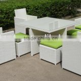Durable beautiful outdoor garden dining set rattan dining set wicker coffee table and chair