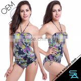 Women Sexy Tankini Halter Swimsuit Shorts Bathing Suit Set