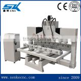 Multi heads cnc rotary engraving machine dsp control system cnc router