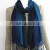 Gradient Color Acrylic Scarf with fringe