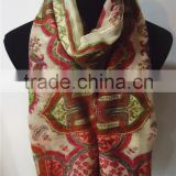 Cotton and Polyester Blending Printed Scarf