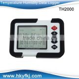 laboratory Multi function co2 sensor humidity temperature data logger with USB port TH 2000