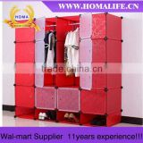 Alibaba express Simple design Cheap double wardrobe HMY4-5M