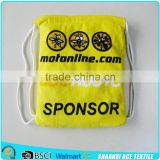 Custom design Promotional printed beach towel bag with drawstring/cotton towel beach bag