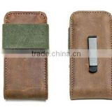 Unique design cell phone belt clip pouch cover with elastic closure cover leather phone case cover for iphone 5s