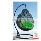 English Letters Indoor Outdoor Hanging Chair Swing Egg Chair Garden Iron Single Seat Swing Hanging