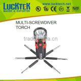 LUCKTECH 2015 TOP SELL 8 IN 1 CAR multi-screwdriver torch