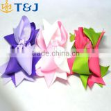 <<<Korean Style Bow Knot Hair Clip Barrette Children Girls Colorful decorative Hair Claw Fabric Clip/