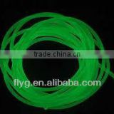 Solid Rubber Cord, Green Luminous with ex-factory