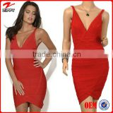 Women Sexy V-neck Backless cheap china wholesale clothing Bandage Dress Fashion Wholesale Bandage Dress Drop Shipping                                                                         Quality Choice