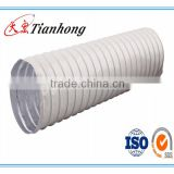 single side aluminum and plastic composite white PVC tape for flexible duct discount AL foil product in tianhong