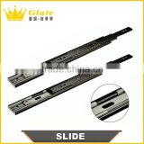 Full Extension Ball Bearing 45mm Drawer Slides , Cold-rolled Steel Material Telescopic Slide, Telescopic Drawer Channel/
