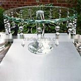 wedding crystal pedestal cake stand plate with chains