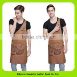 003 High Quality and Durable Artisan chef leather apron with leather strap