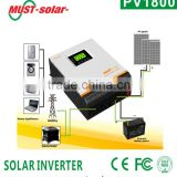 Must solar ISO factory hot selling mppt off grid hybrid power inverter with solar charger 1kva-5kva solar power system