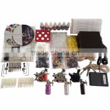 Complete 3 rotary tatto machine set tattoo type kit / beginner tattoo kit
