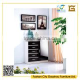 contemporary design high gloss wooden chest of drawers cabinet for living room furniture