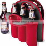 6 Pack Beer Bottle Neoprene Sleeve Bag Holder, Portable Neoprene Wine Bottle Tote Sleeve Bag CB-012