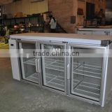 Bar counter fridge with stainless steel table top