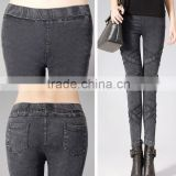 2014 new style fashion women winter snow pants big yards showing thin outer wear leggings/lend little tight trousers/jeans