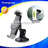 Anti-slip Diagonal design Windshield Suction Cup plastic mobile phone holder for car