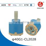 40 mm Double-seal Flat Base low torque plastic Cartridge Valve Core faucet ceramic cartridge