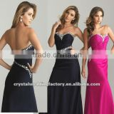 2013 sweetheart beaded ruched black custom-made evening dresses CWFae4924