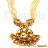 22K Gold Kundan Necklaces, Kundan Jewellery, Jaipur Kundan Neck