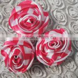 Wholesale satin rose flower manufactory satin flower girl dress patterns cheap artificial satin flowers 2016