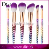 New Products 6PCS Nylon Hair Makeup Brushes Gradient Cosmetics Foundation Professional Kits
