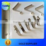 factory outlet high quality pipe positioning spring clip,white nickel flat 65 Mn spring clip,strong type spring clip