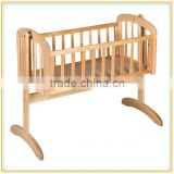 wooden baby swing portable cradle