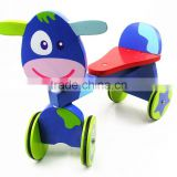 Wooden toy walking 4 wheels bike ride on animals ODM OEM