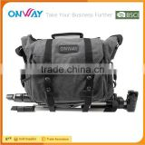 Manufacturer custom durable canvas photographic video dslr camera bag professional for men