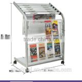 Customized movable antique newspaper rack