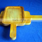 high quality custom wooden pizza serving plate with handle