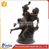 antique Greek mythology boy and girl bronze sculptures NTBH-S804X