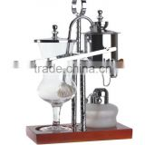 Silver royal balancing belgium syphon coffee maker