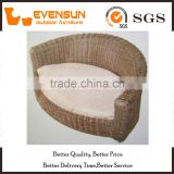 Half Round Shape Wicker Pet Bed