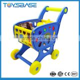 Toy shopping cart with fruit & vegetable supermarket trolley shopping cart toy car trolley