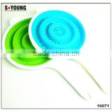 16071 SILICONE Heat resistant foldable silicone pasta strainer Silicone Colander Collapsible Strainer