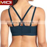 Sexy Sport Activewear Custom Made Yoga Bra Triangles Criss-Crossing Bra