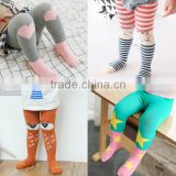 KS30413c cartoon animal pattern baby girls stockings long socks cotton kids tights