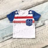 baby boy shorts sets boutique outfits cute cotton July 4th top shirts raglans summer clothes striped star kids wear