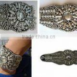 Leather cuffs with metal beads work