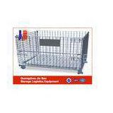 Folded Rolling Metal Steel Storage Cages For Warehouse / Workshops
