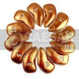 Factory Wholesale Gold Synthetic Leather Iron Golf Headcovers