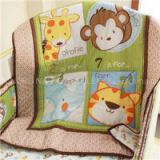 Discount Elephant Giraffe Monkey Tiger Animal Baby Crib Bedding Set Including Bumper Pad