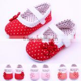 Spring&Autumn Polka Dot Flower Soft Sole Infant Baby Shoes