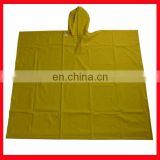 Adult pvc hooded rain cape poncho for adults